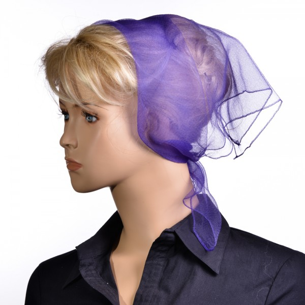 Tuch einfarbig Violett NT1 191