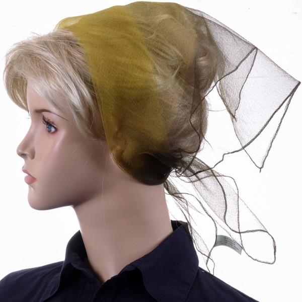 Herz fashion Nylon Tuch Zweifarbig Senf/Khaki 193-256