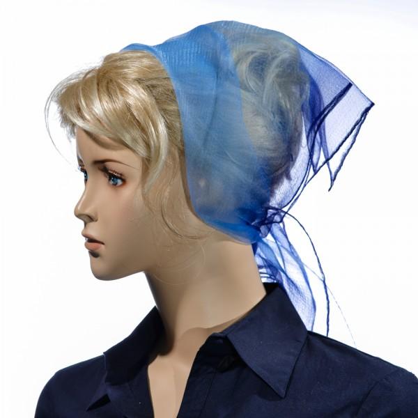 Herz fashion Nylon Tuch Zweifarbig Himmelblau Marine NT3A.211-177