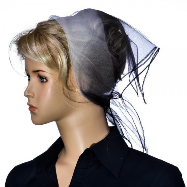 Herz fashion Nylon Tuch Zweifarbig Schwarz-Weiß NT3.101