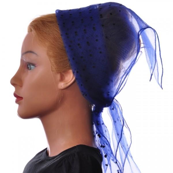 Nylon Tuch Marineblau mit kleinen Punkten
