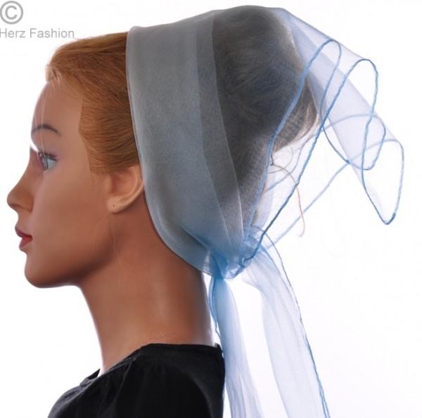 Herz fashion Nylon Tuch Zweifarbig Himmelblau-Weiß NT3.211
