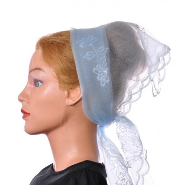 Nylon Tuch Himmelblau mit Muster 1021